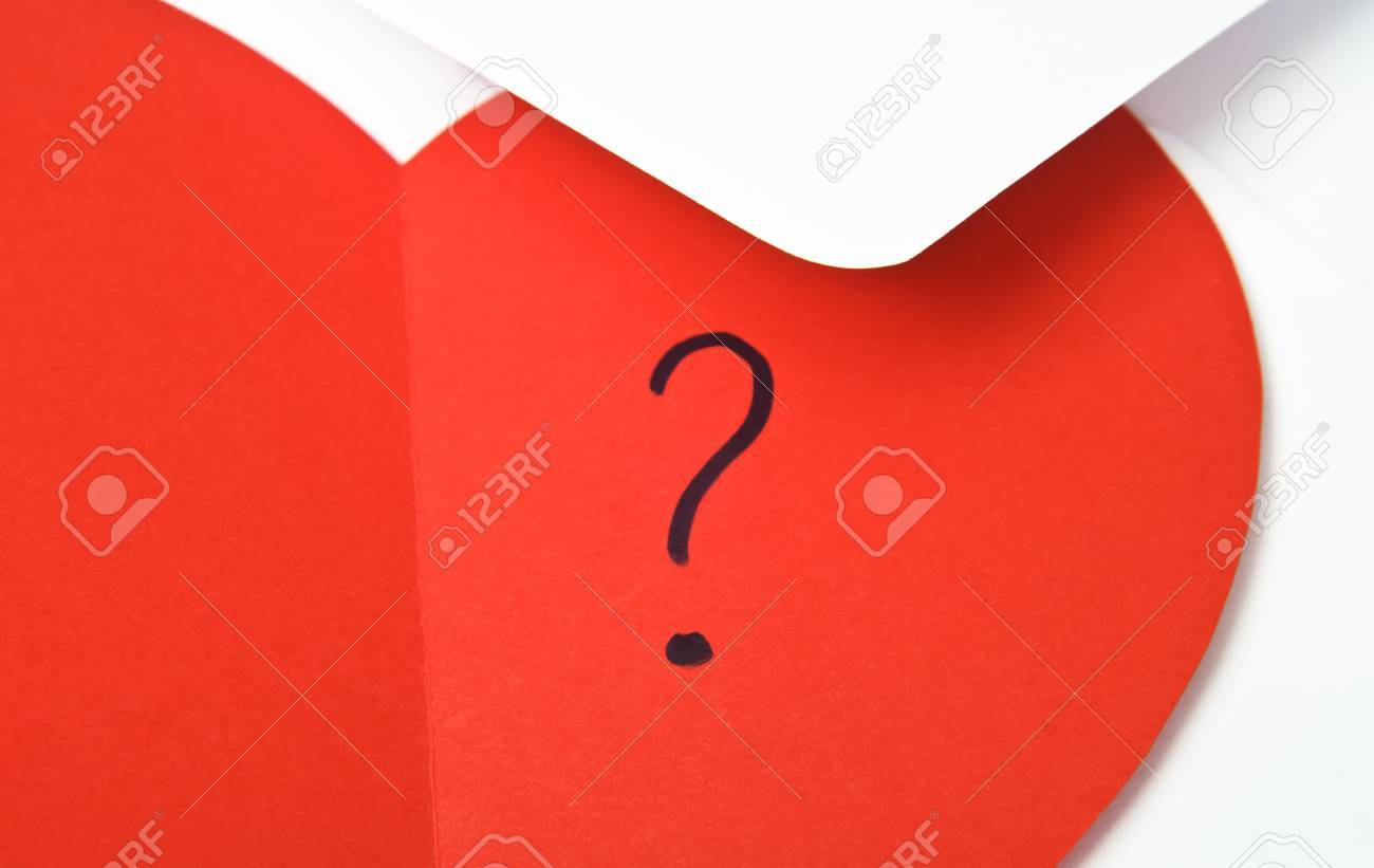 close up of a red heart shaped valentine s card opened to reveal