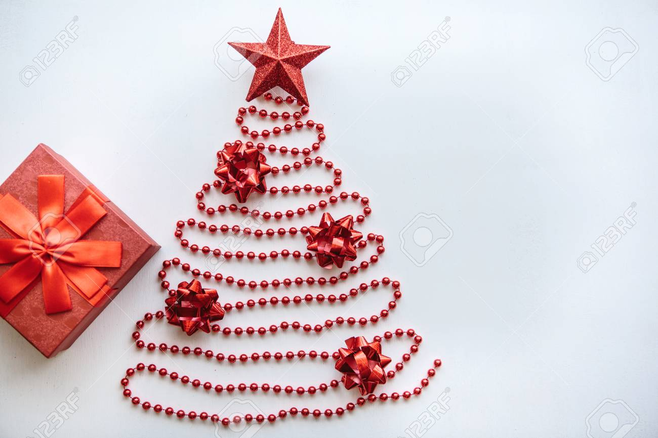 creative idea in minimalistic style for christmas or new year themes christmas fir tree