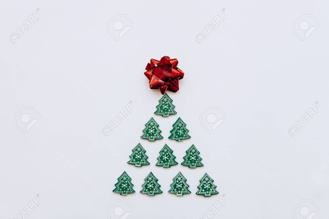 Creative Idea In Minimalistic Style For Christmas Or New Year Stock Photo Picture And Royalty Free Image Image 108718756