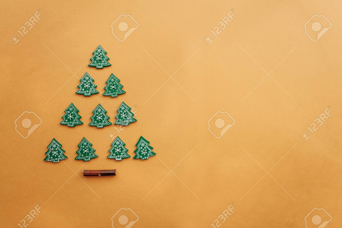 Creative Idea In Minimalistic Style For Christmas Or New Year Stock Photo Picture And Royalty Free Image Image 108935790
