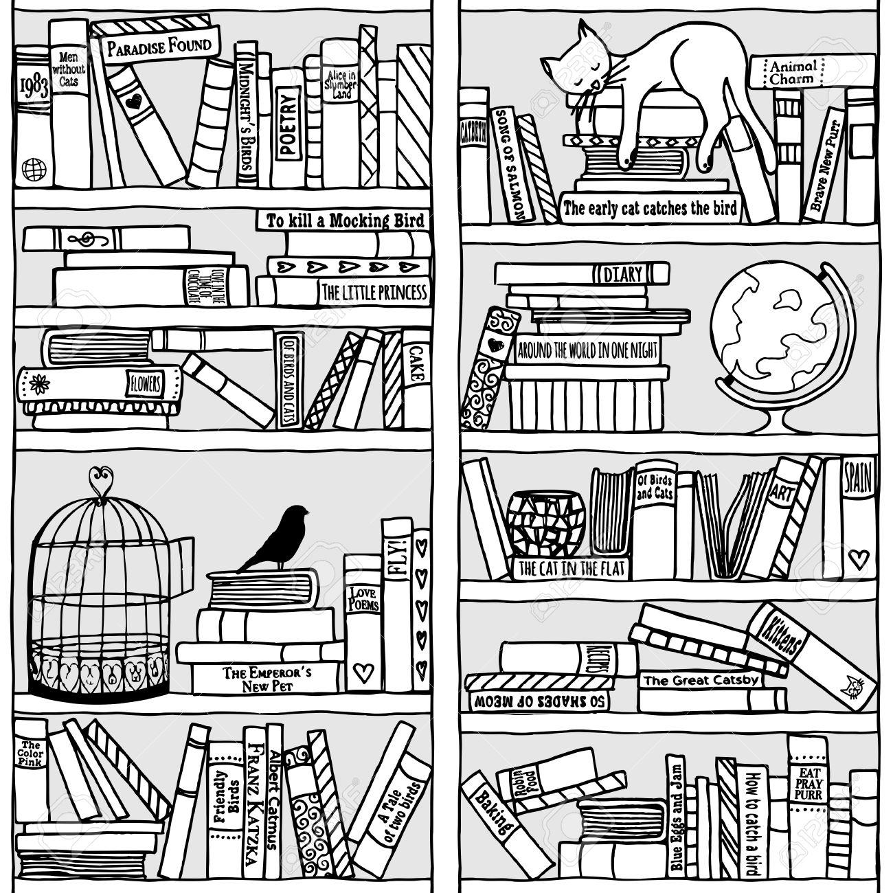 Bücherstapel gezeichnet  Bücherregal Gezeichnet | ambiznes.com