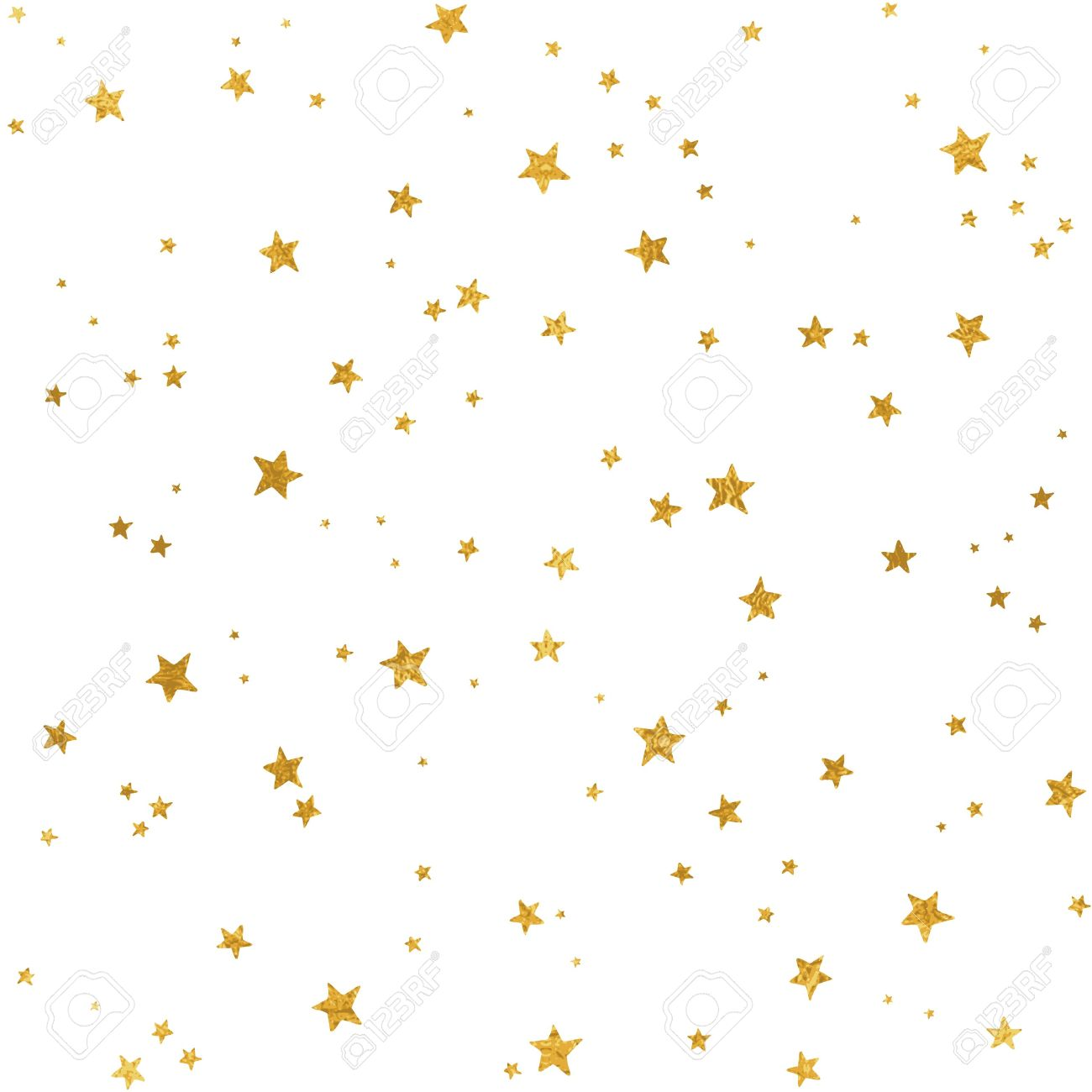 Seamless pattern with gold foil stars for Christmas (or other occasions) - 64562440