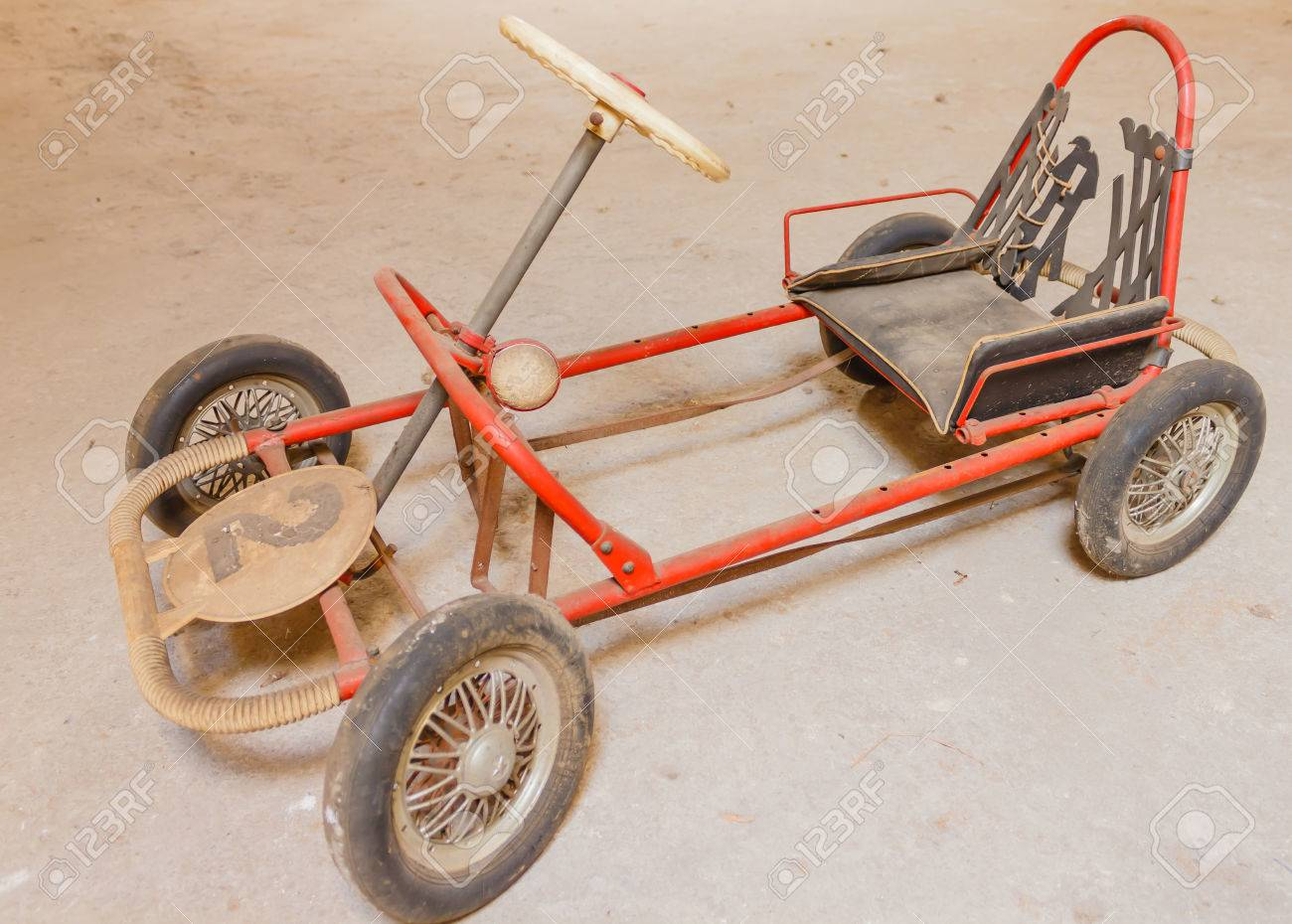 Close-up Of An Old Go-kart For Children Stock Photo, Picture And ...