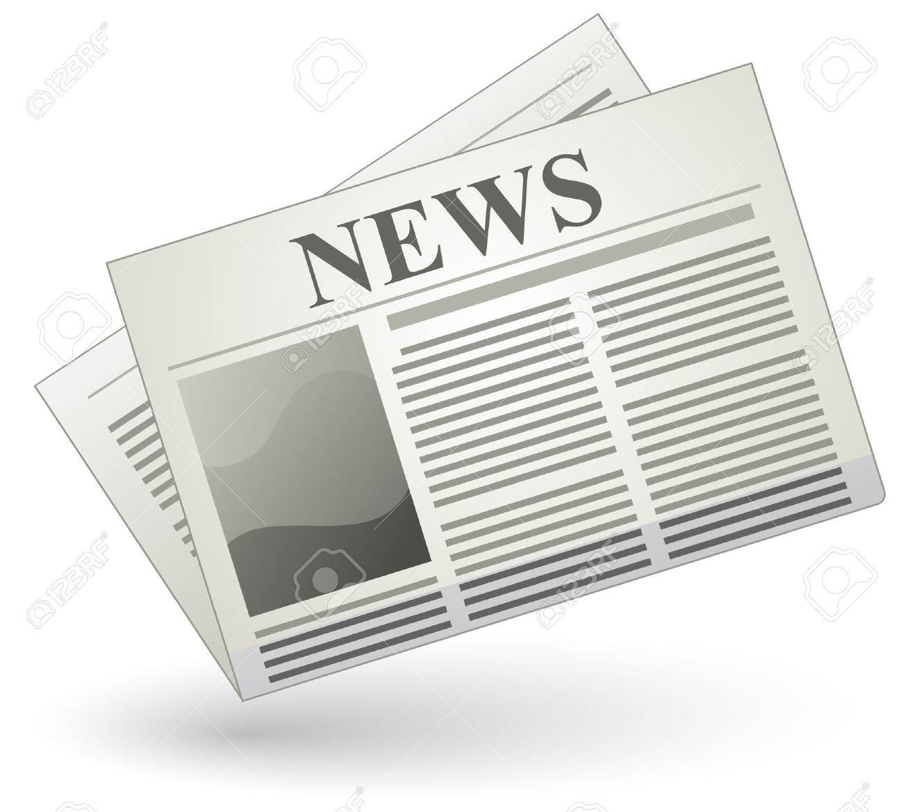 Vector newspaper icon Stock Vector - 5529430