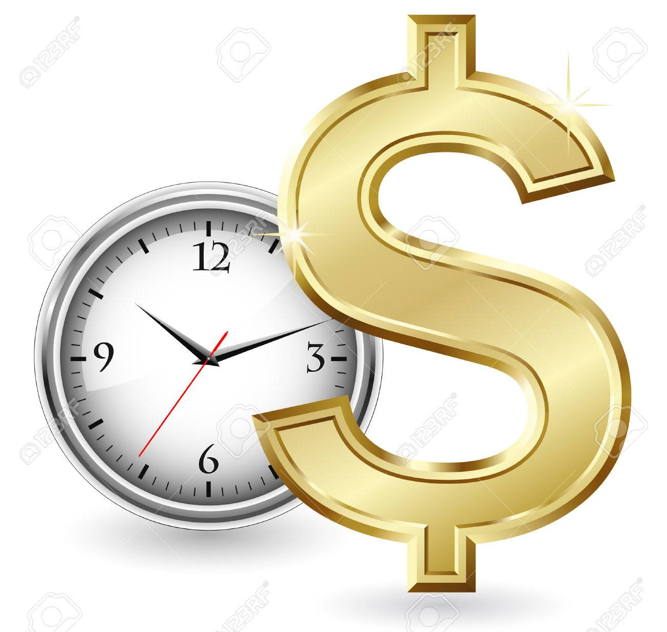 Time is money Stock Vector - 5715610