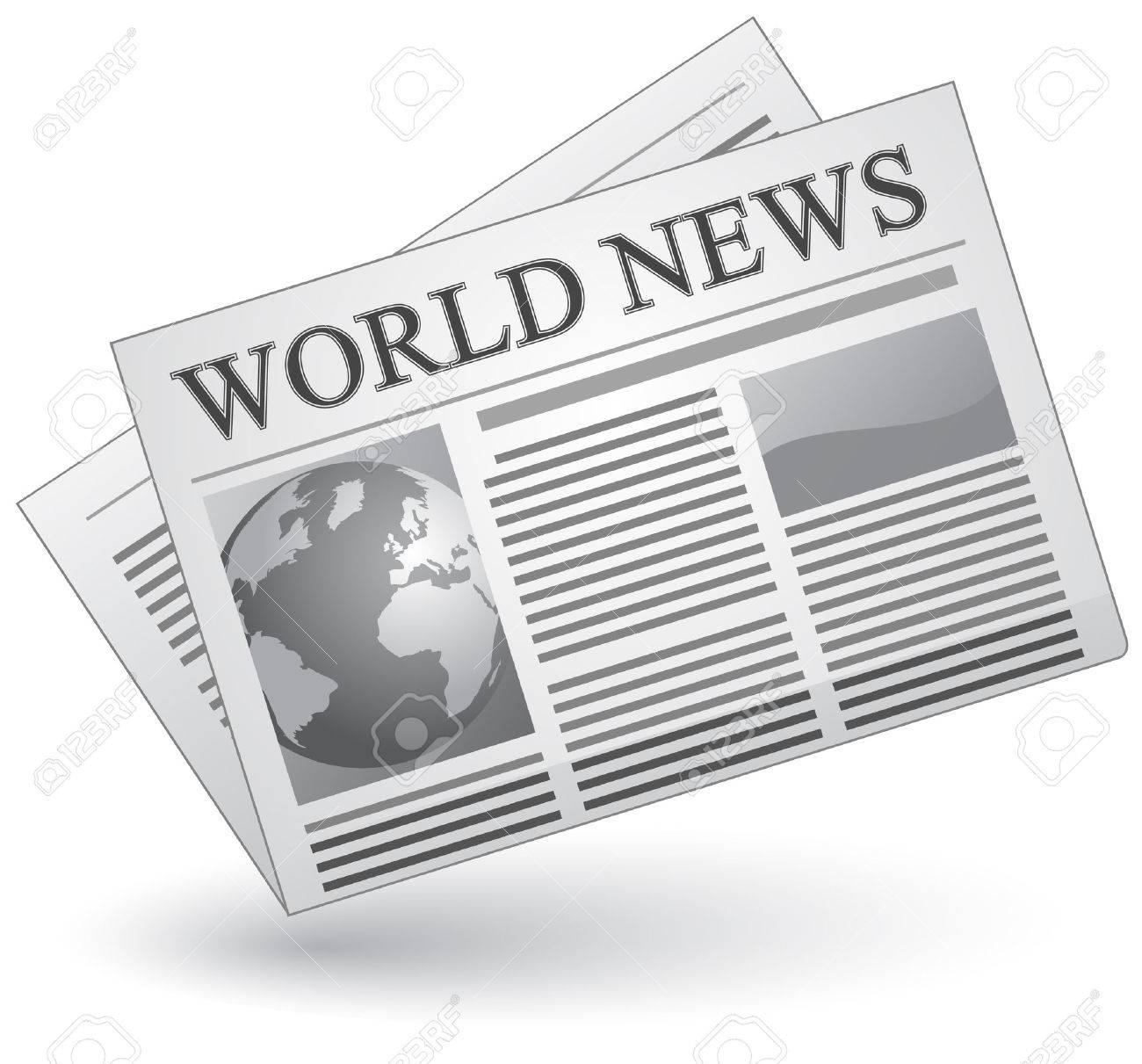 Global news concept. Vector illustration of world news icon. - 5811541