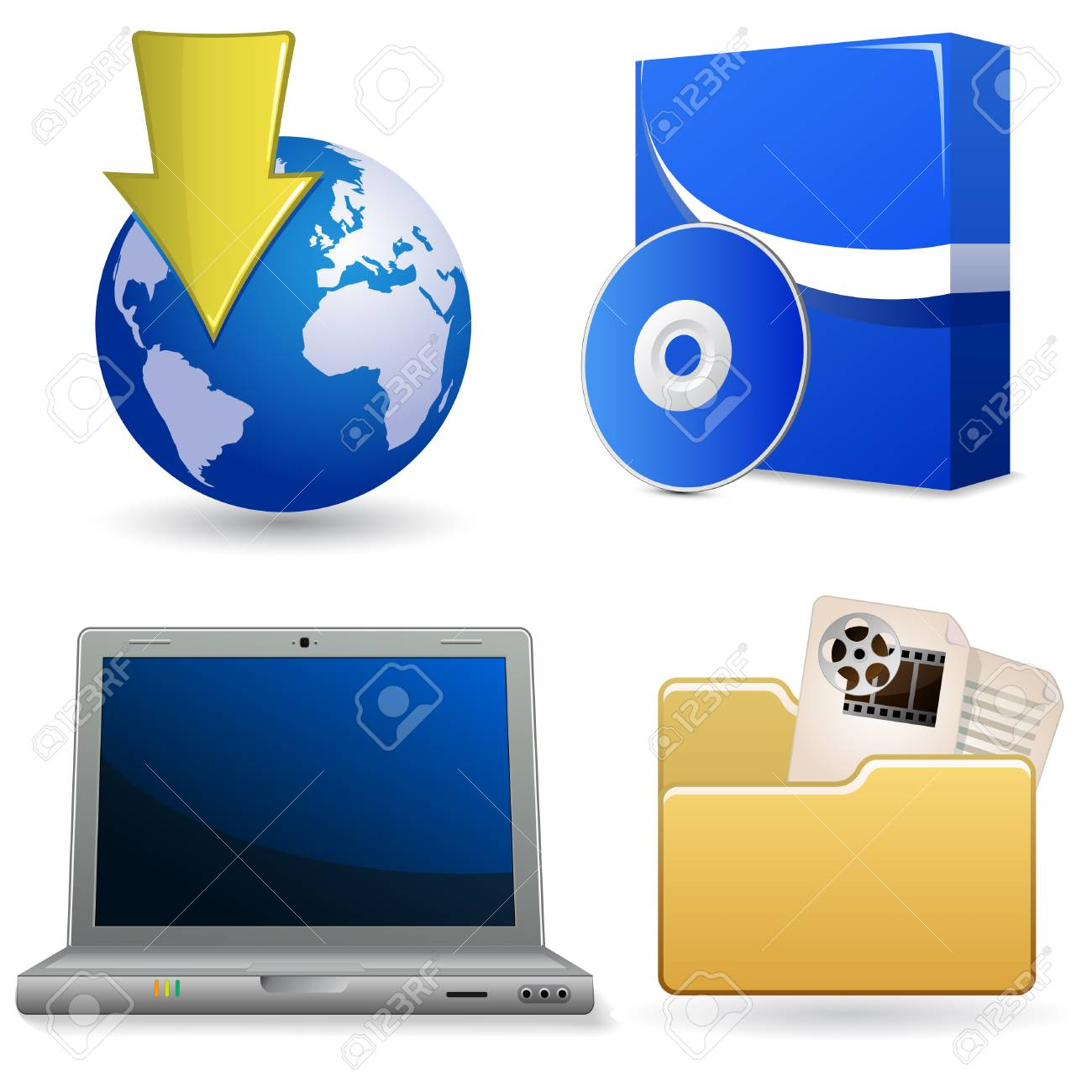 Icon set for web site Stock Vector - 5811547