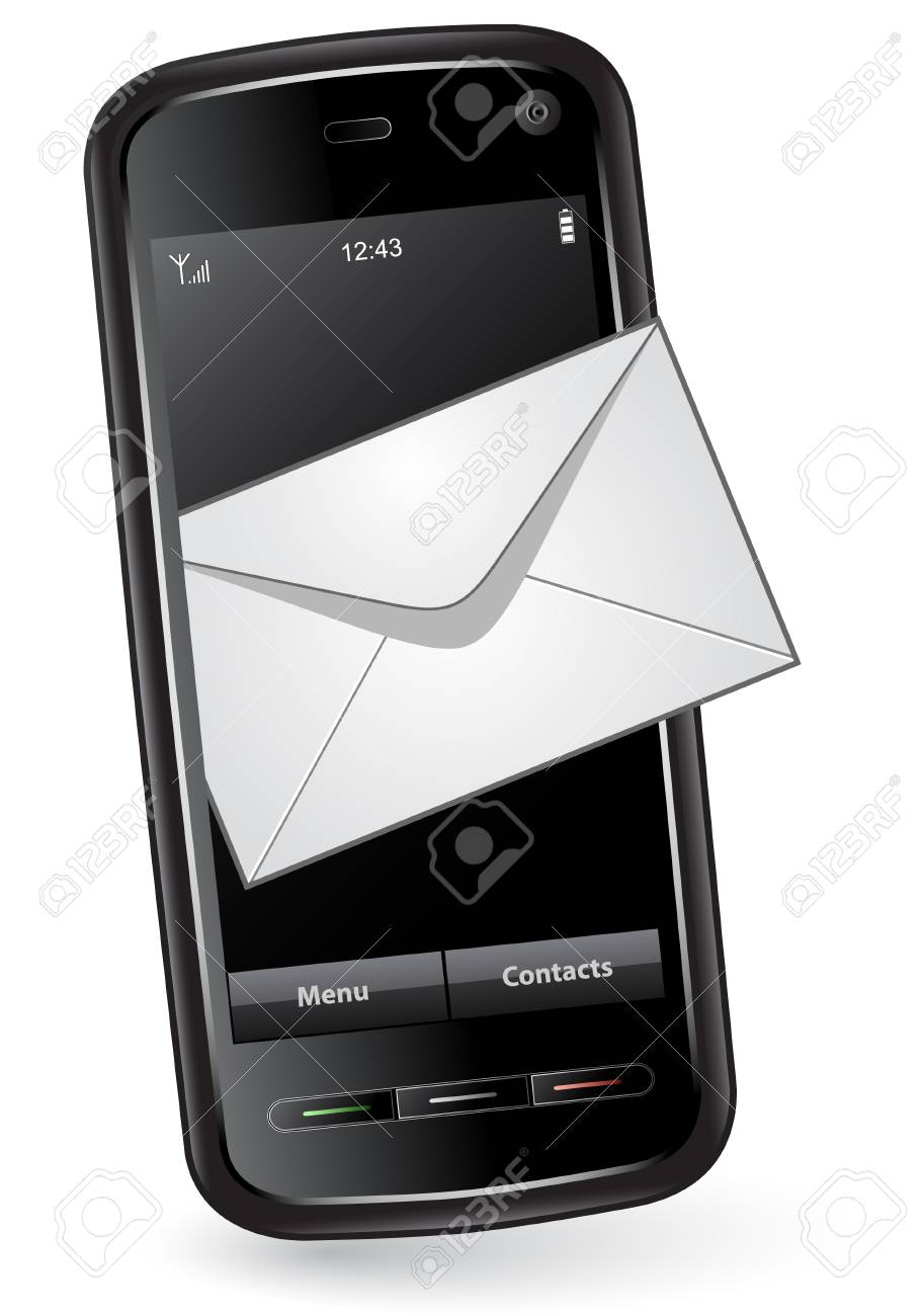 Mobile phone with mail envelope Stock Vector - 6042702