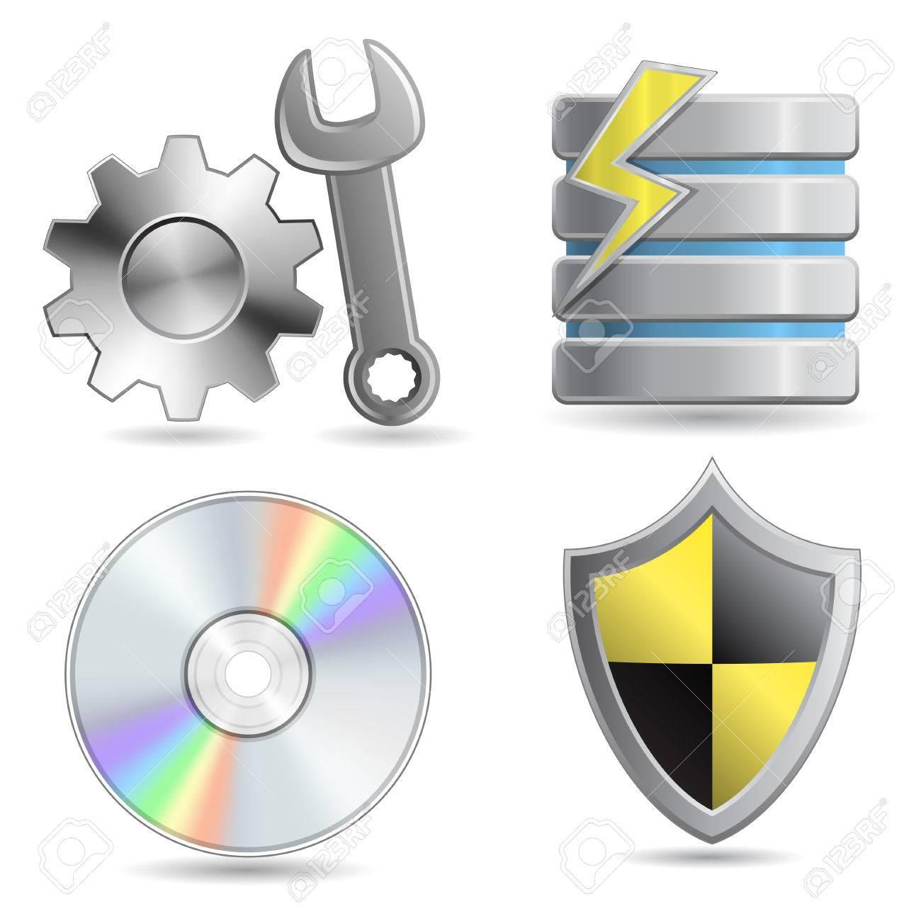 Web Hosting Icon Set. Stock Vector - 6219222