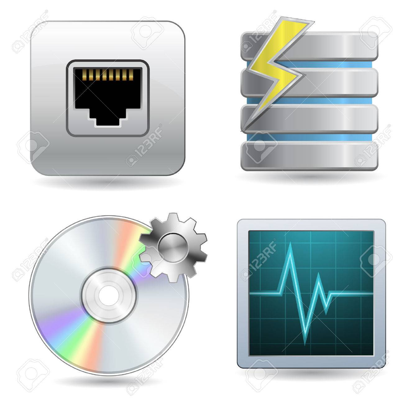 Web Hosting Icon Set Stock Vector - 6358208