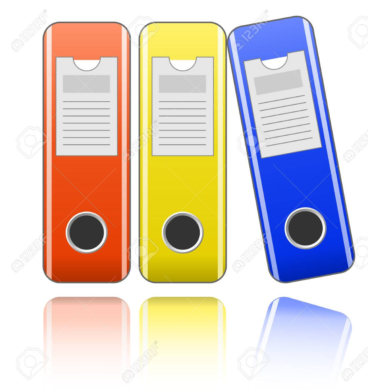 Folders For Office Documents Royalty Free Cliparts, Vectors, And ...