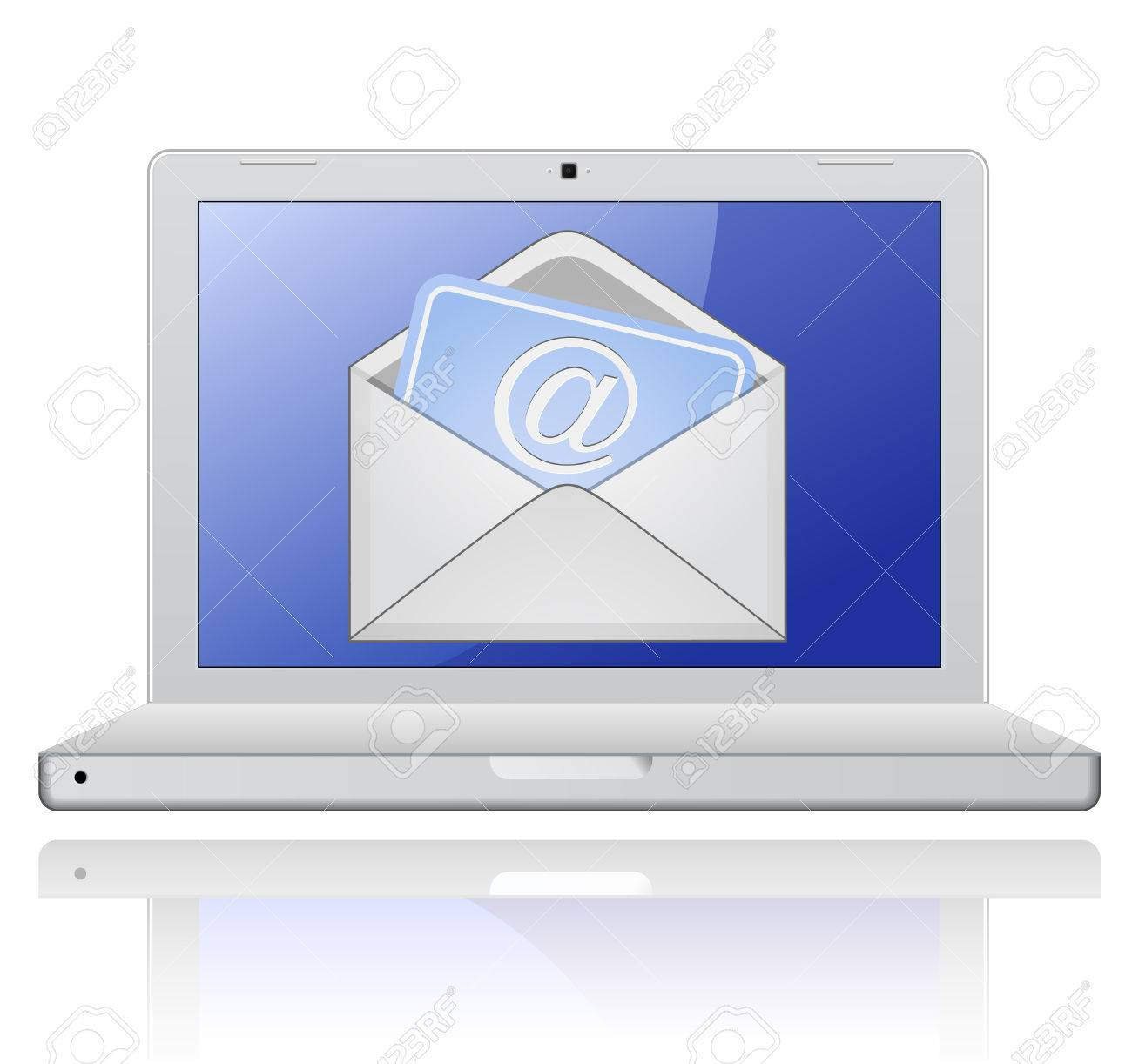 Laptop with mail envelope. E-mail concept. Stock Vector - 6815604