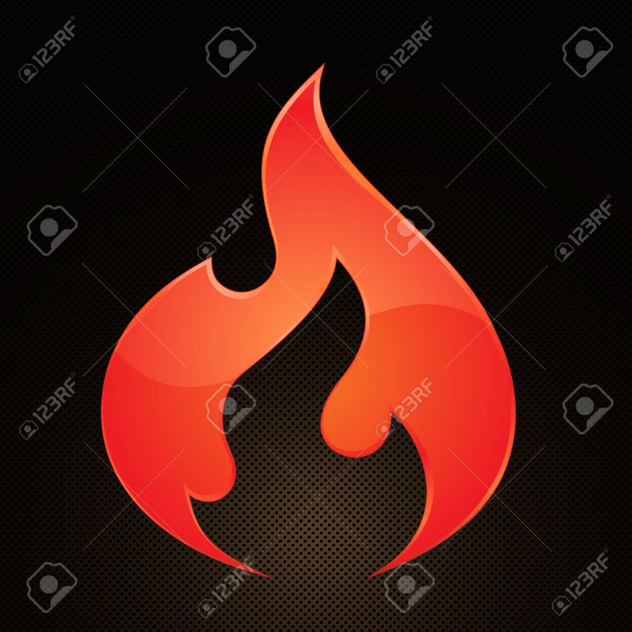 Illustration of fire on abstract grid background Stock Vector - 6815628