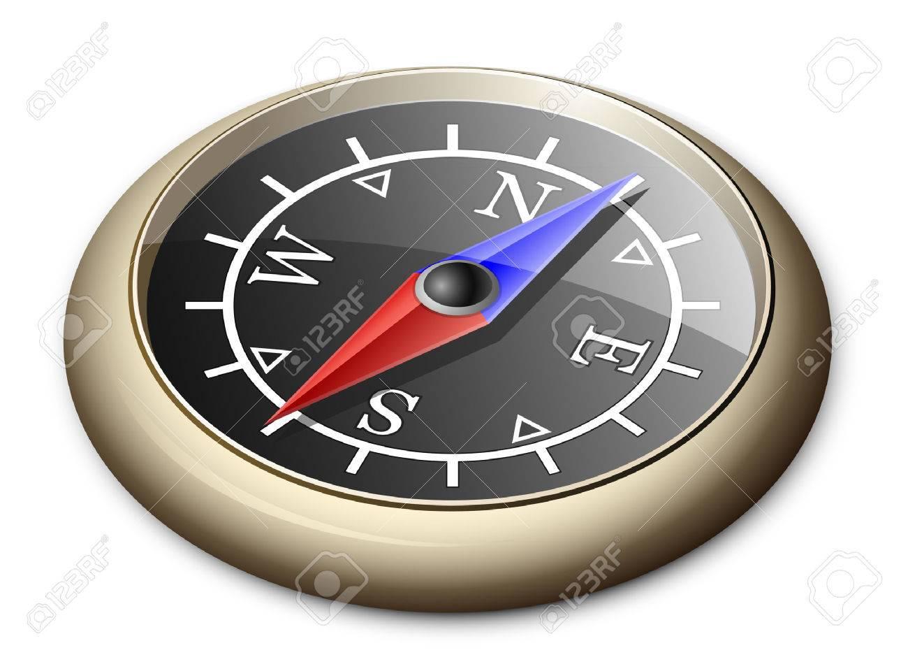 Illustration Of Brass Compass Stock Vector - 8142395