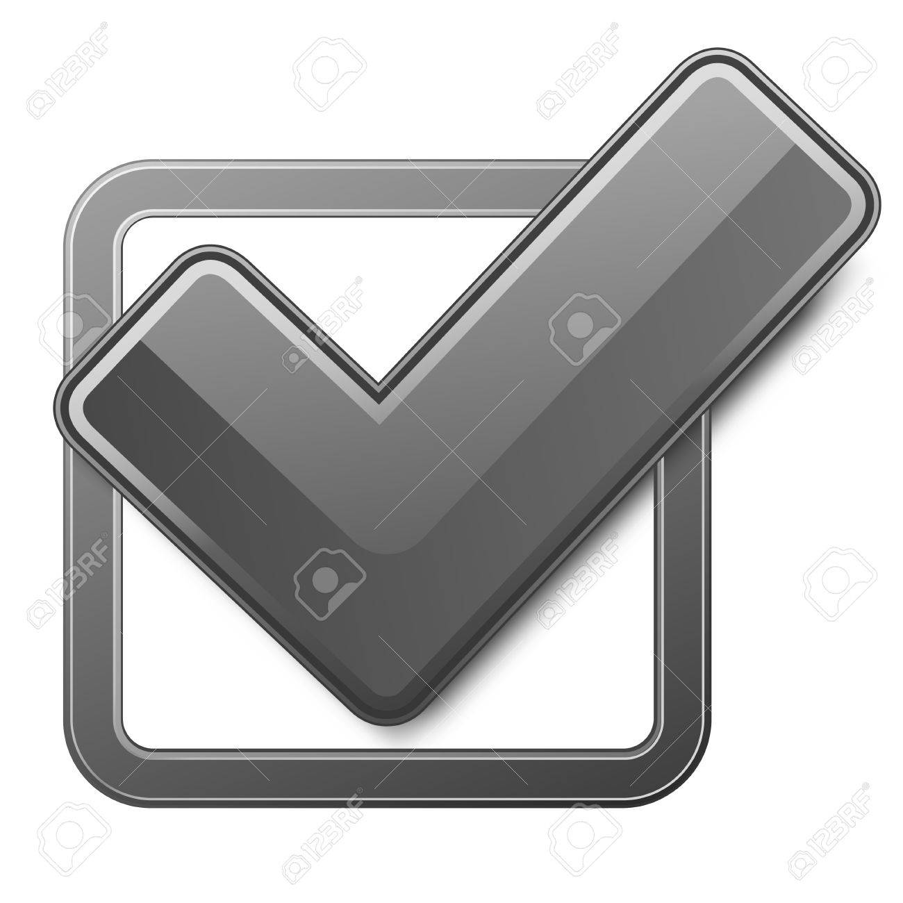Black check box with check mark. Stock Vector - 9045083