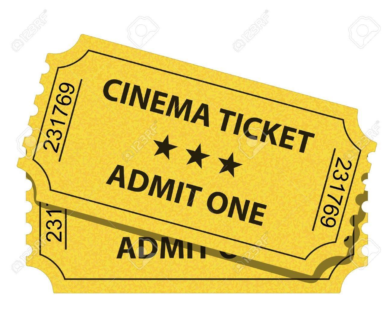 illustration of cinema ticket - 9449950