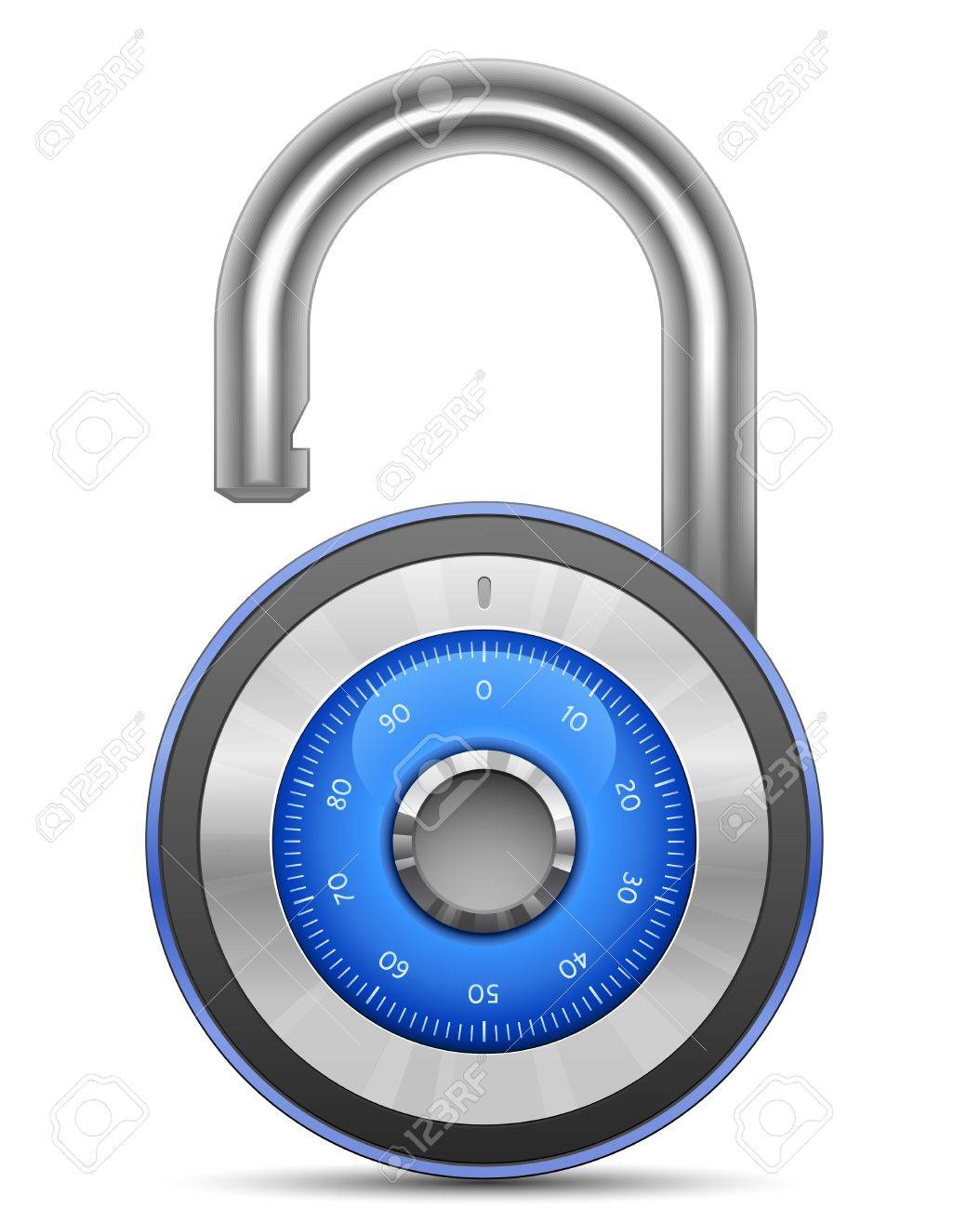 Combination Lock Collection. Security Concept. Vector illustration of padlock Stock Vector - 9644412