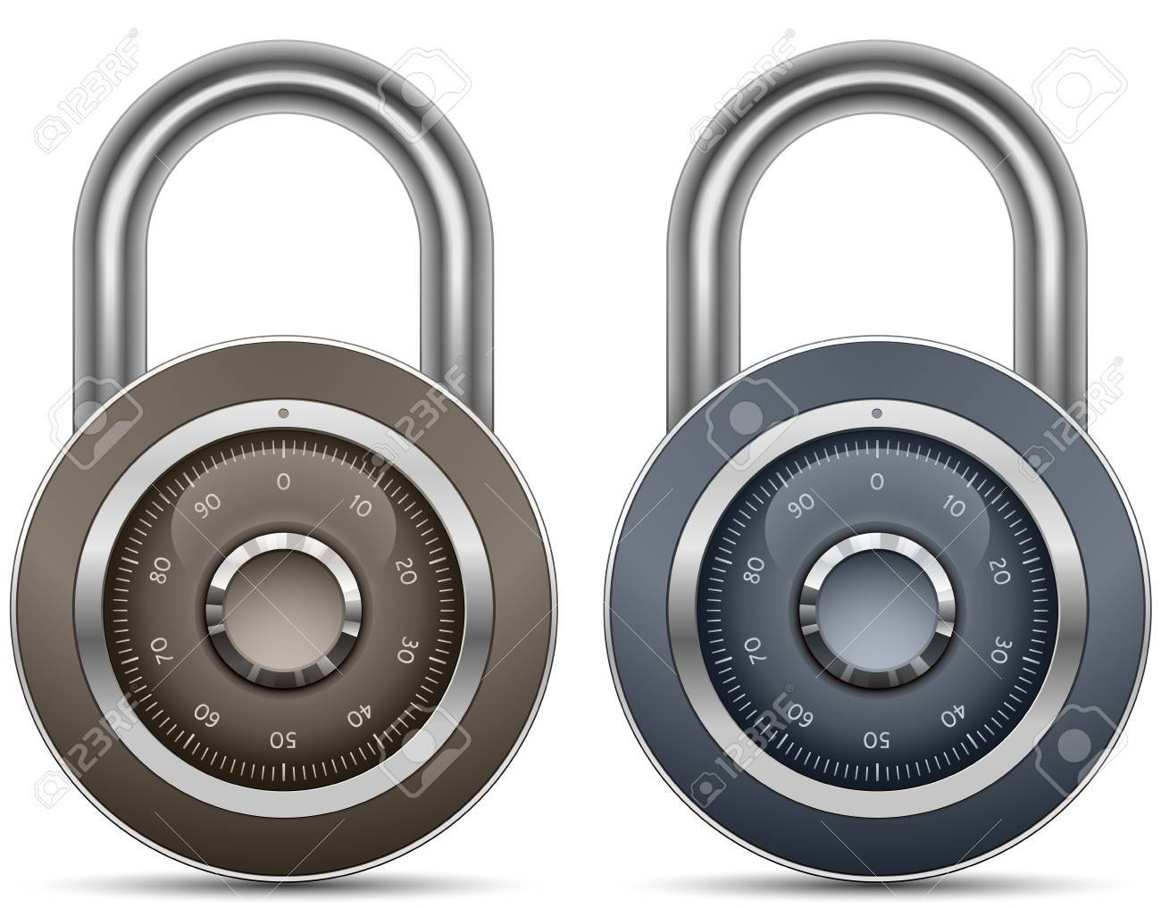 Combination Lock Collection. Security Concept.illustration of padlock Stock Vector - 9878229