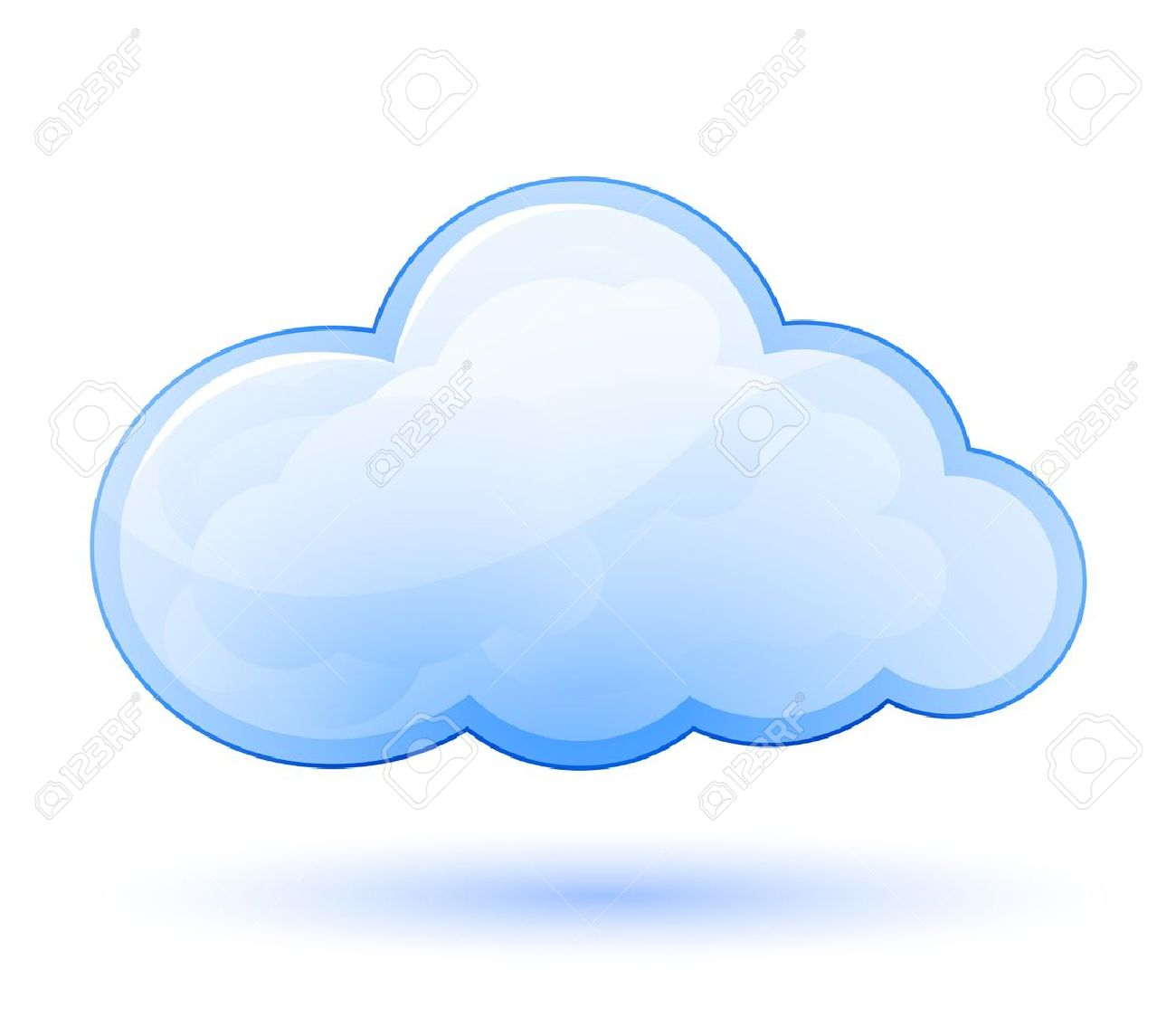 cloud glossy icon vector illustration royalty free cliparts rh 123rf com vector clouds illustrator vector cloud shape
