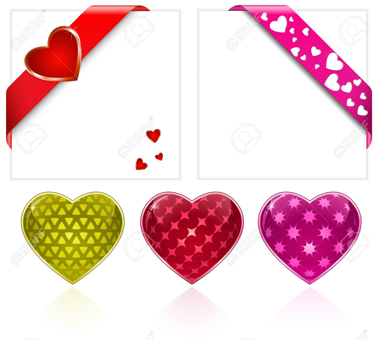 Valentine's Day. Hearts Collection. Vector Illustration Stock Photo - 11889095