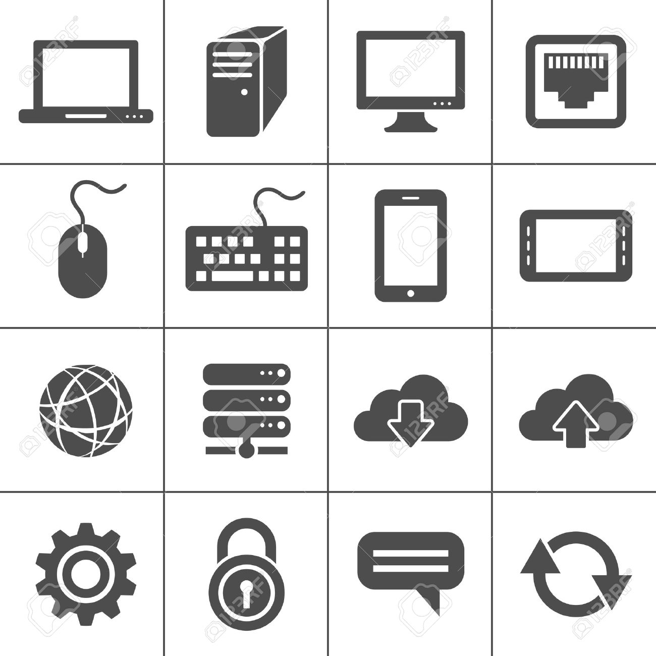 Simplus icons series  Network and mobile devices  Network connections Stock Vector - 15118849