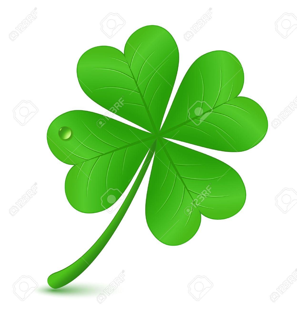 四つ葉のクローバー ベクトル イラスト St Patrick の日記号のイラスト