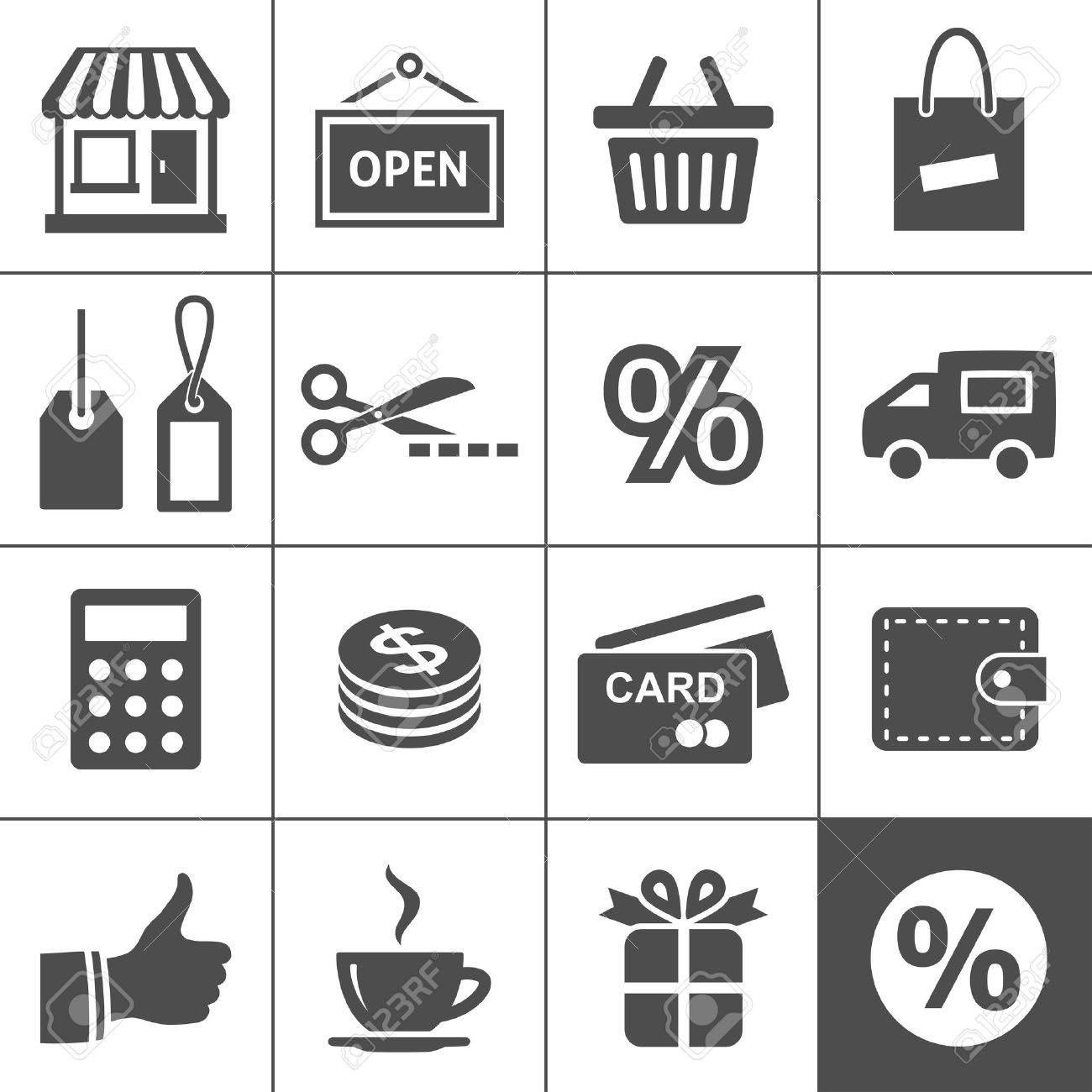 Shopping Icon Set  Simplus series Stock Vector - 18676300