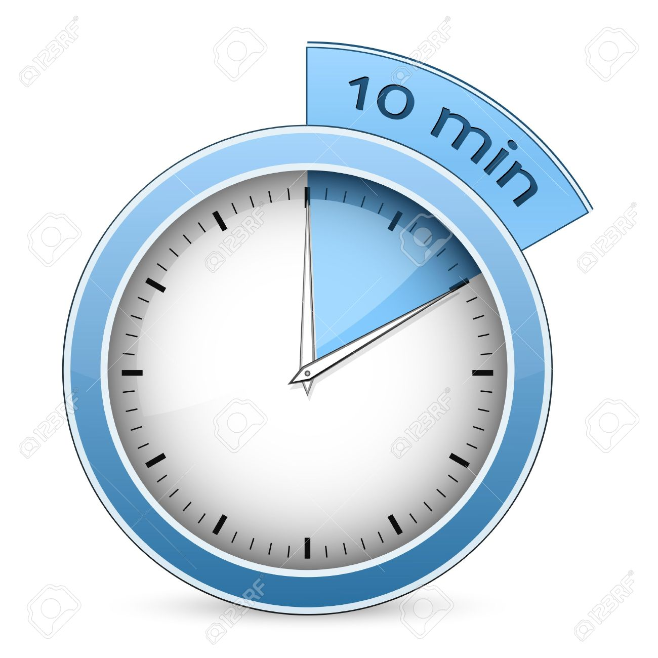 Blue Timer 10 Minutes Vector Illustration Royalty Free Cliparts ...