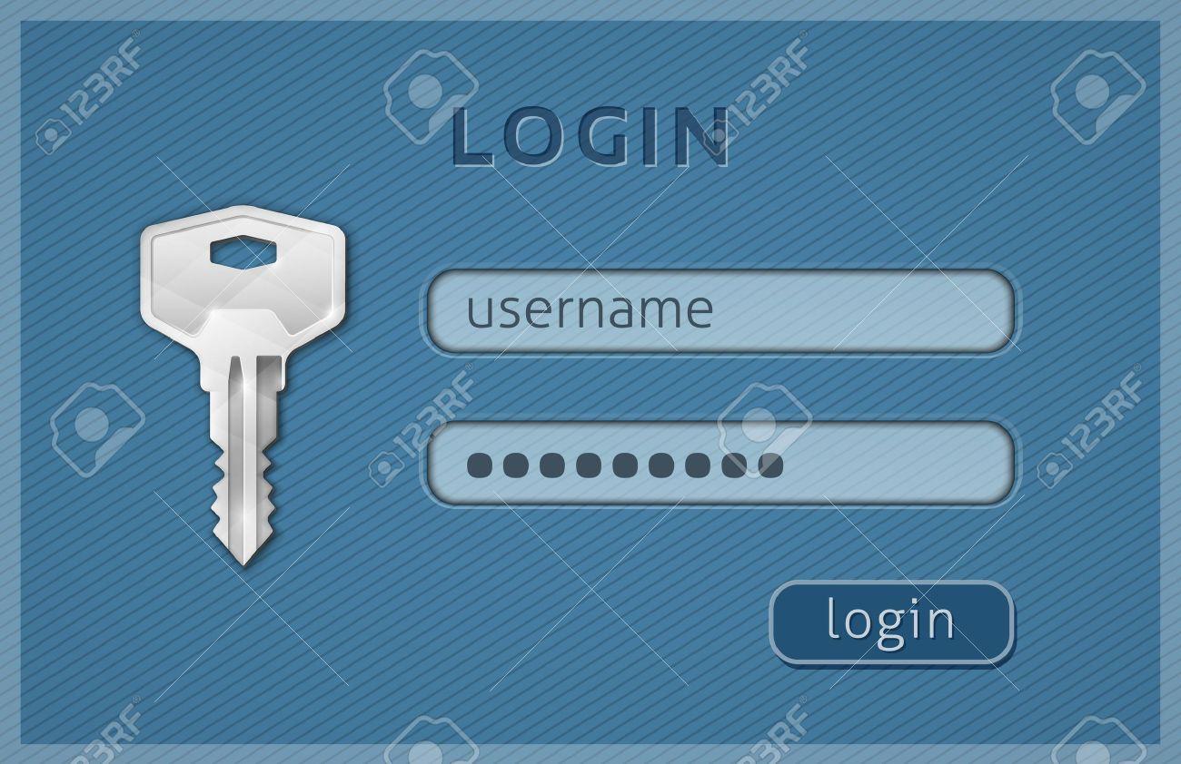 web サイトのログイン ページ テンプレートのログイン フォーム