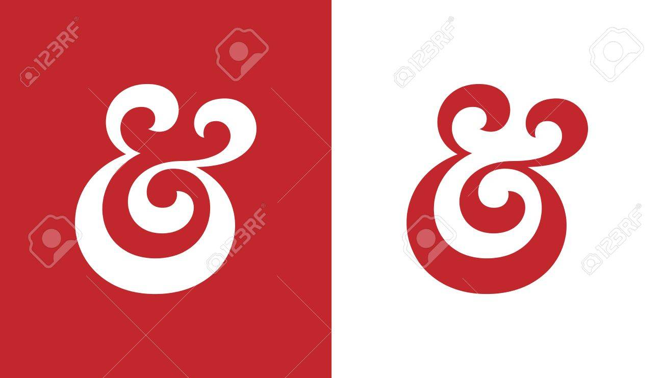 Custom Ampersand. Hand Drawn Ampersand Symbol For Wedding Invitation ...