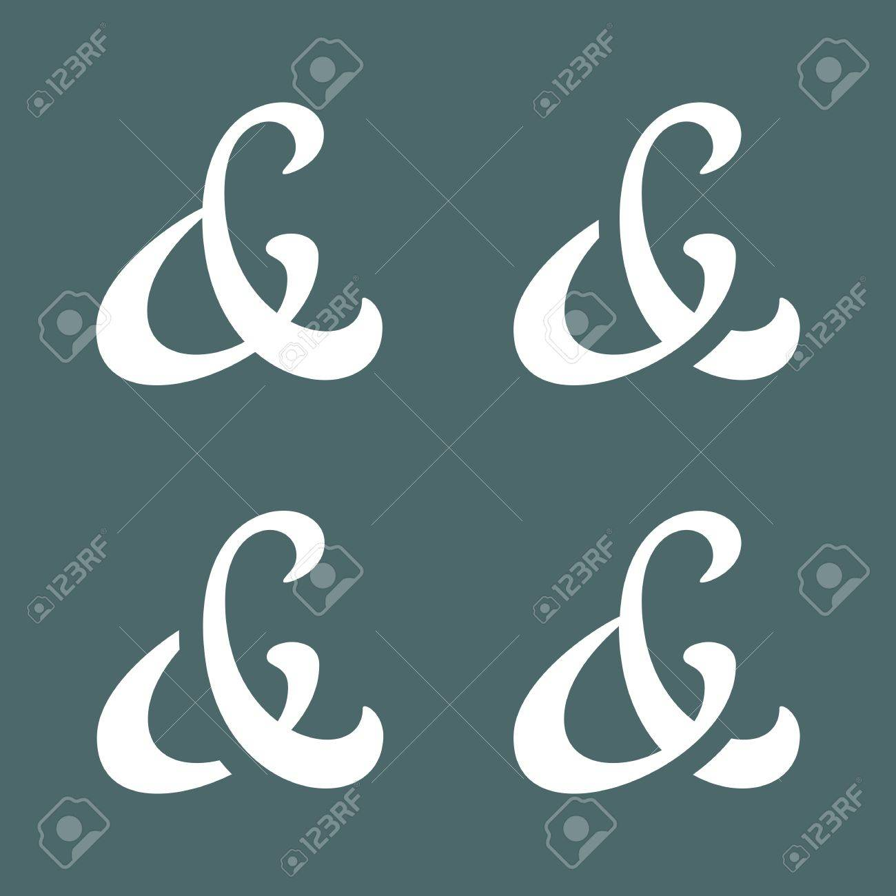 Elegant custom ampersands for wedding invitation vector illustration elegant custom ampersands for wedding invitation vector illustration stock vector 30637485 stopboris Choice Image
