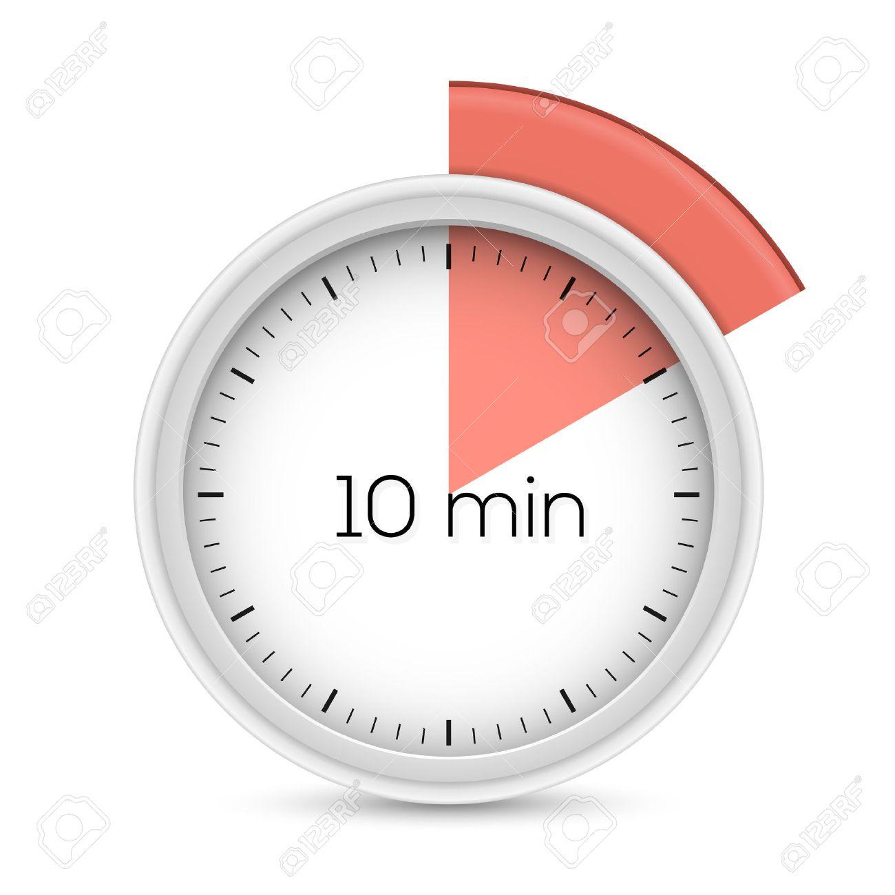 Ten Minutes Stopwatch Timer. 10 Minutes Alert. Vector Illustration ...
