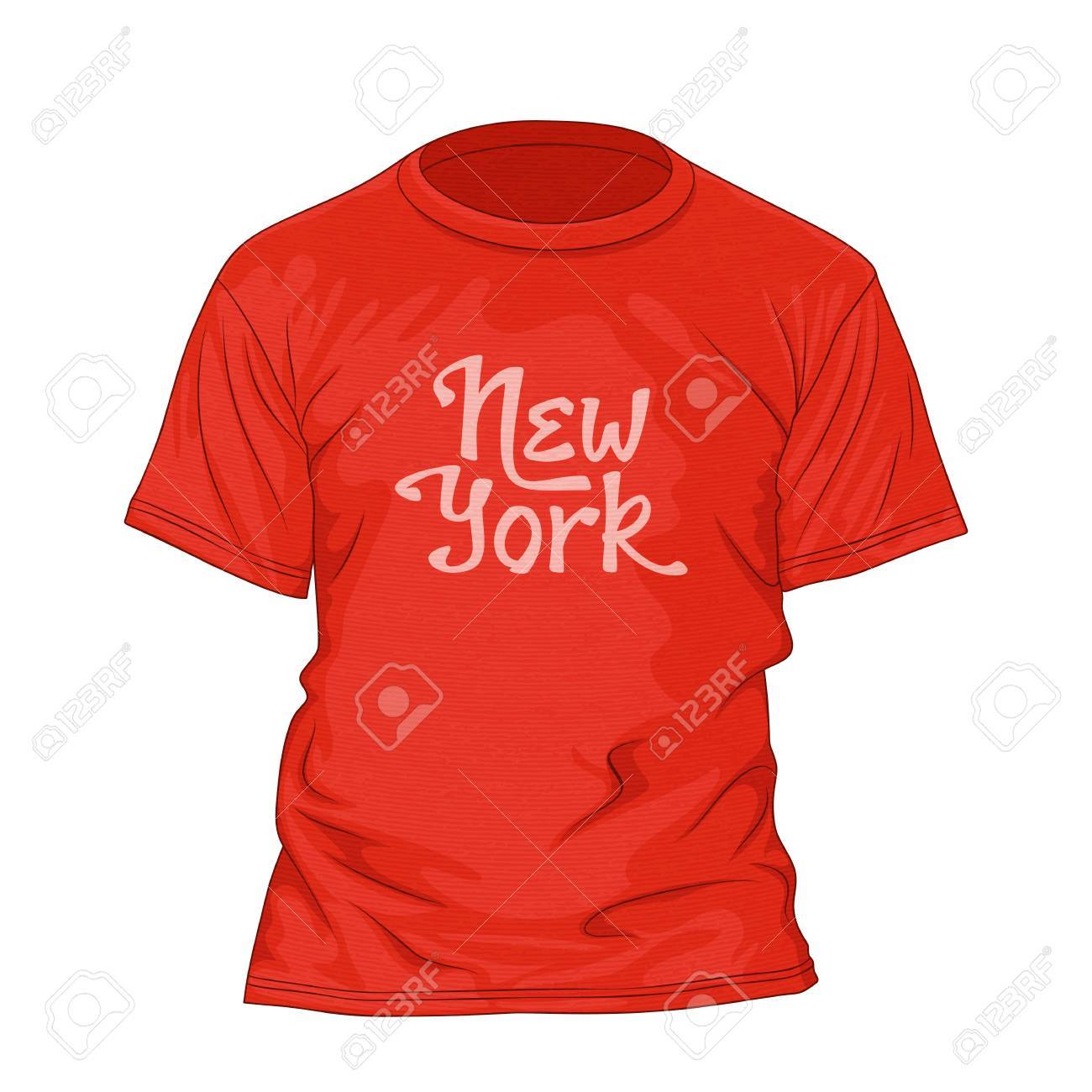 New York Hand Lettering. T-shirt Design Template With Texture ...