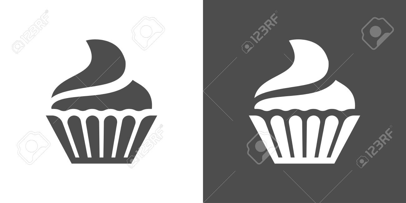 cupcake icon two tone version of cupcake vector icon on white rh 123rf com cupcake factory cupcake factory