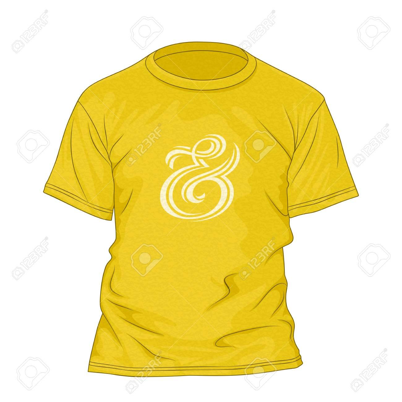 T-shirt Plantilla De Diseño Con Textura Y Letras De La Mano De Signo ...