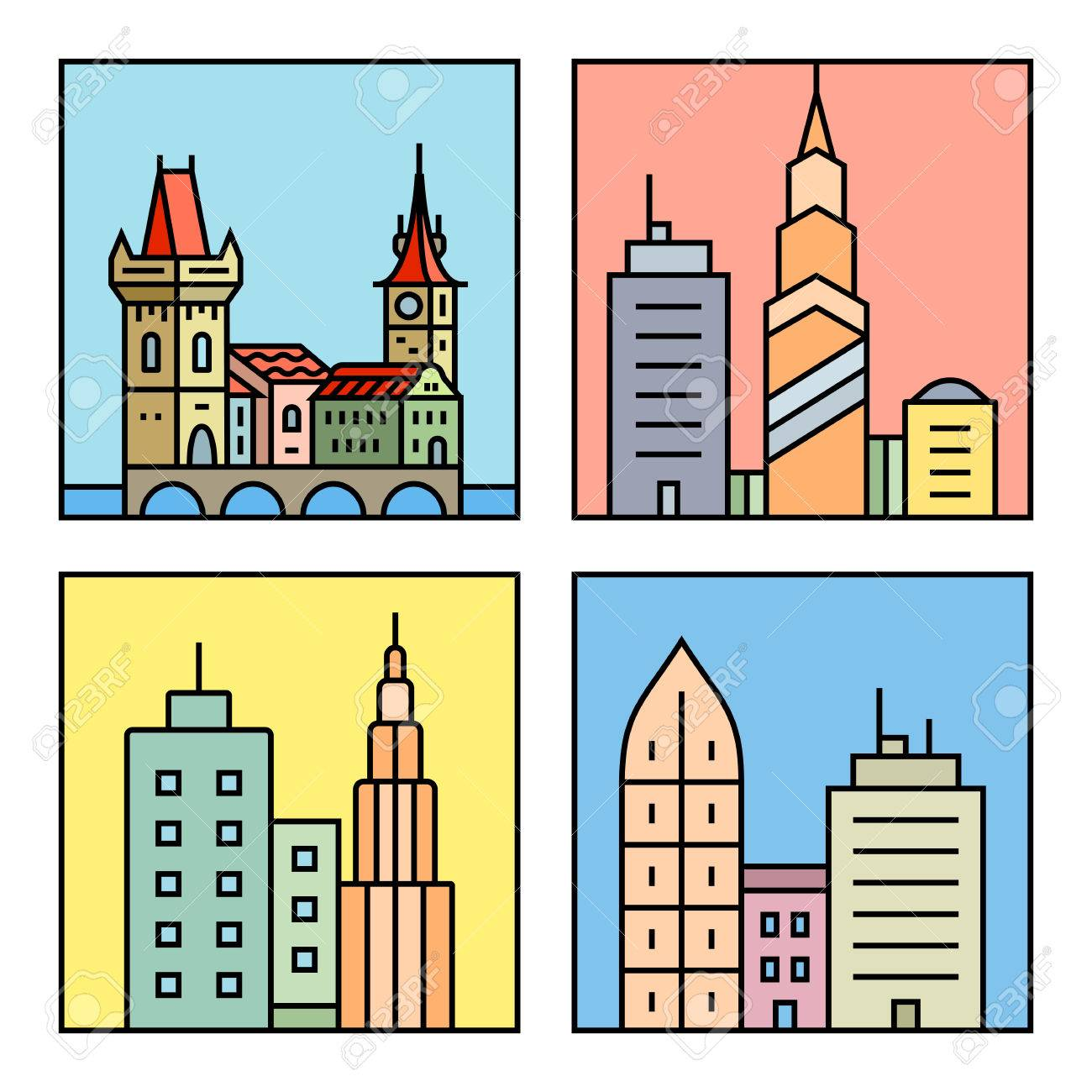 urban vector city skyline and buildings cityscape icons vector rh 123rf com victor building dc victor building department