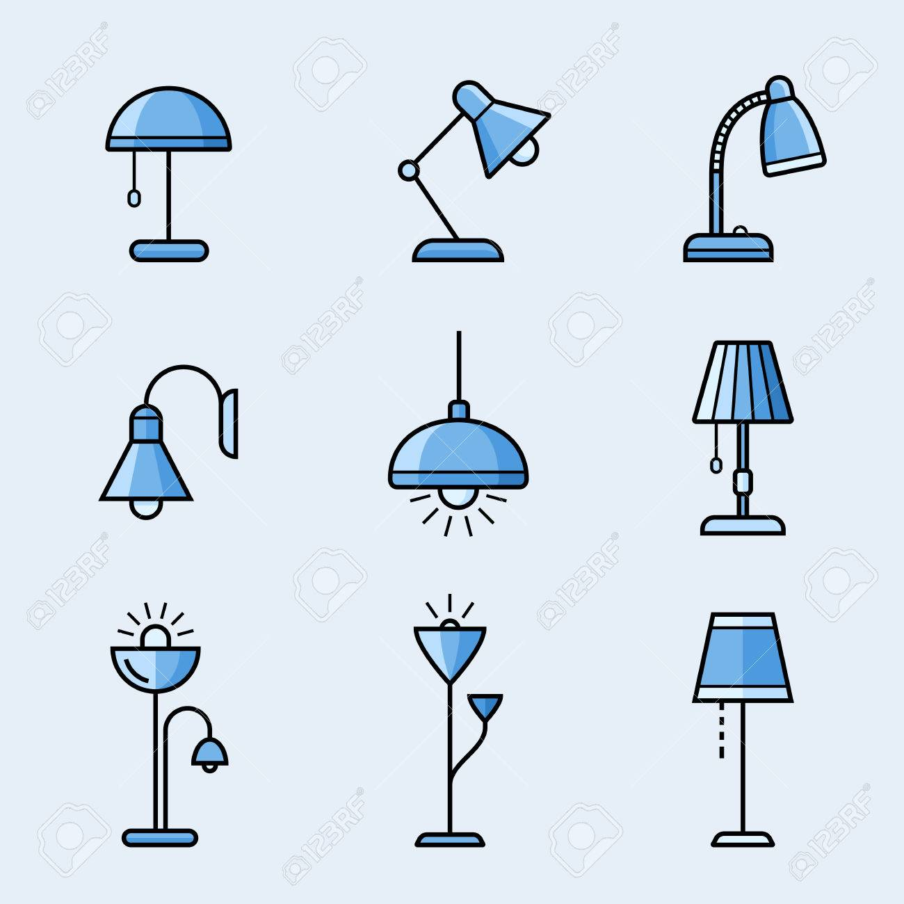 Light fixtures icon set lamps chandeliers and other lighting light fixtures icon set lamps chandeliers and other lighting devices material design style arubaitofo Images