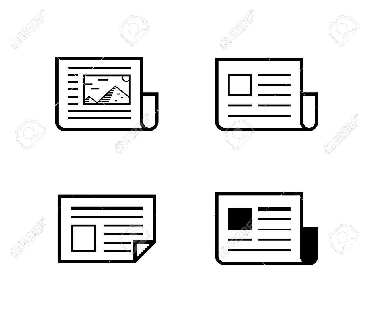 news icons newspaper vector illustration royalty free cliparts rh 123rf com newspaper victoria tx newspaper victoria bc