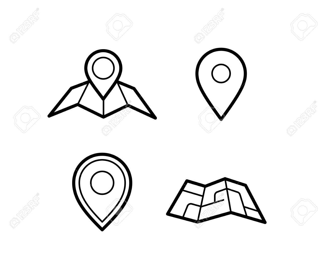 Maps And Pins Vector Icons Make Your Own Custom Location Pin