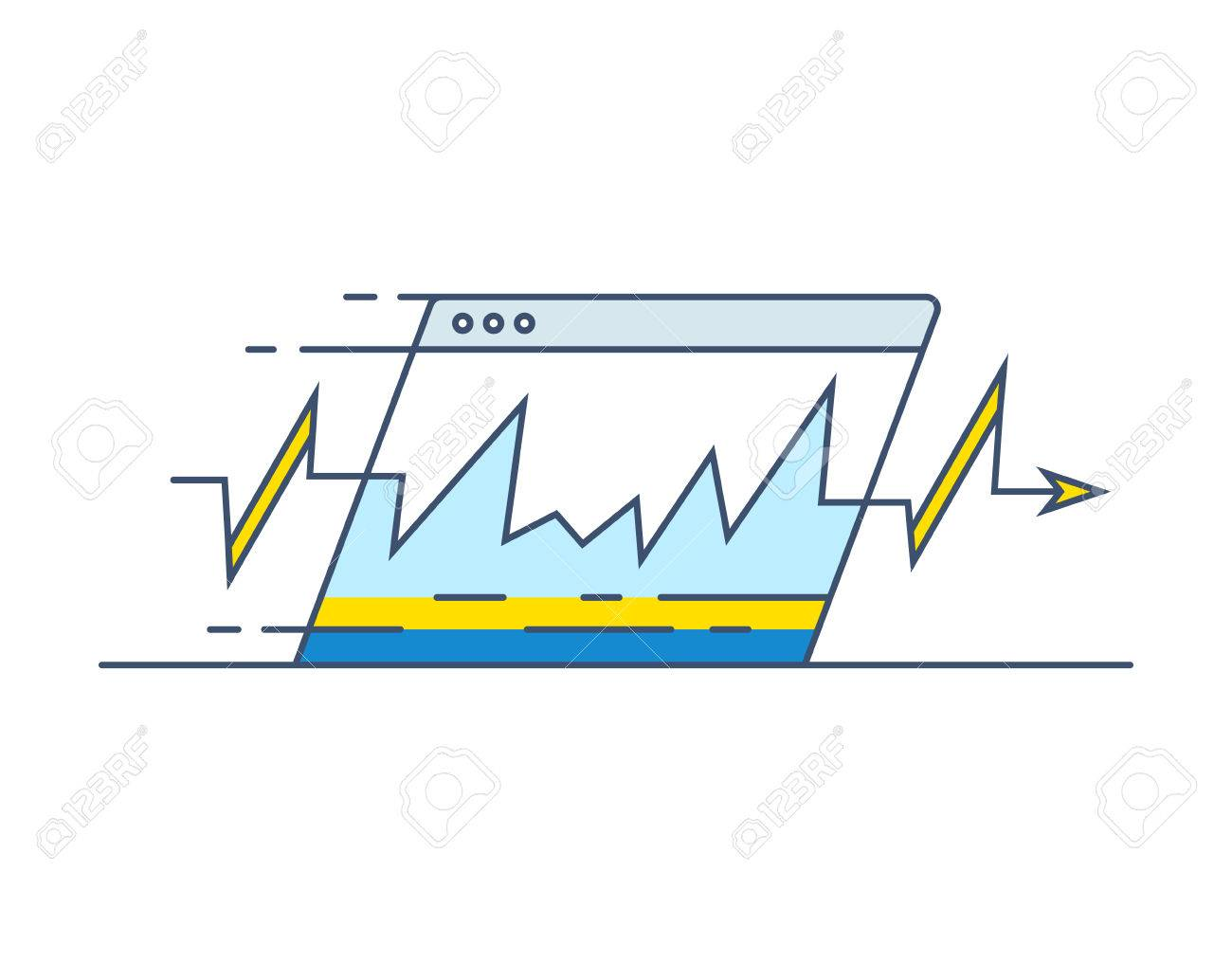 Website Speed Loading Time Icon. Web Browser With Speedometer ...