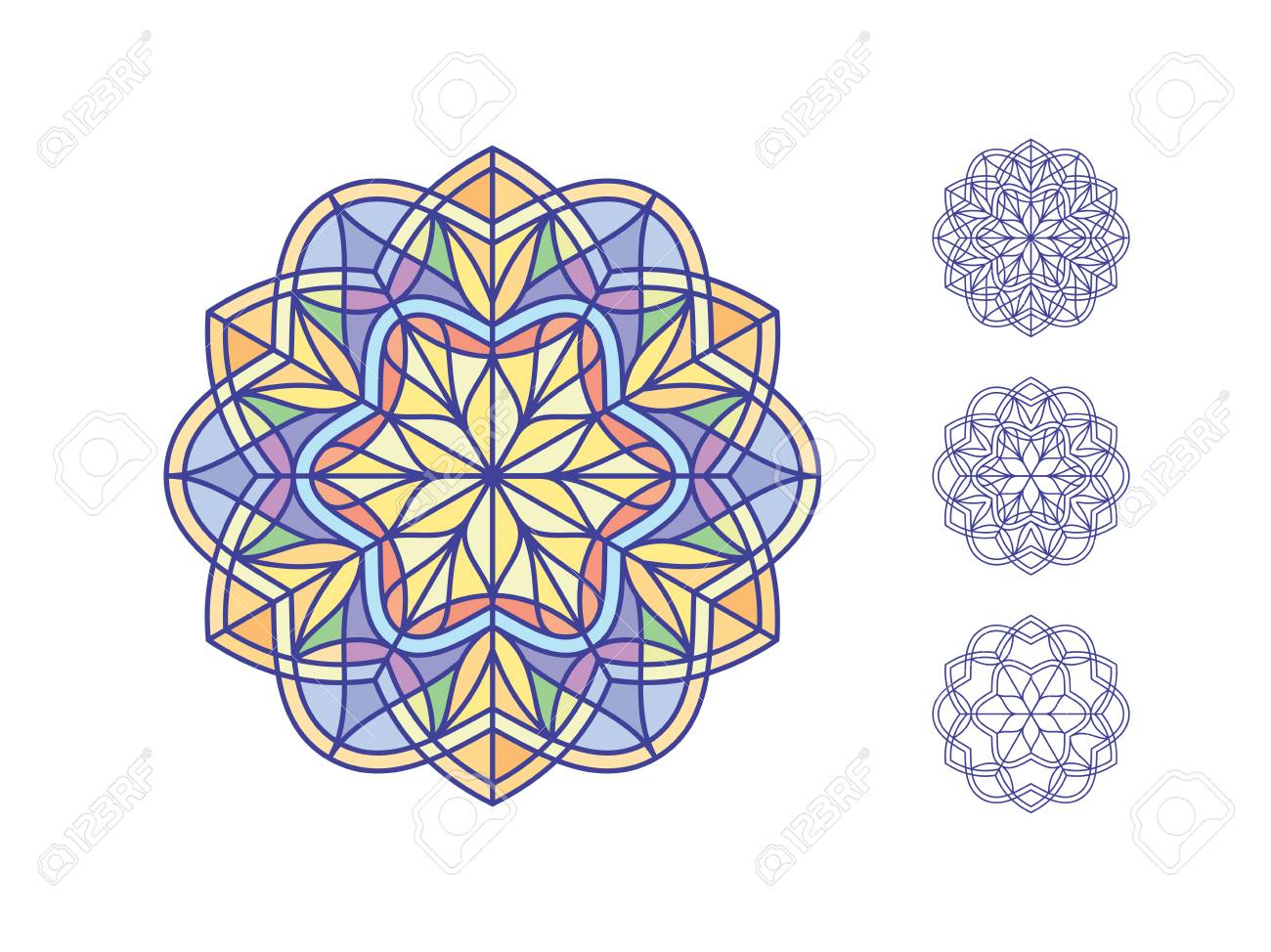 Stained glass templates round elements for stained glass windows stained glass templates round elements for stained glass windows simple mandala flowers in maxwellsz