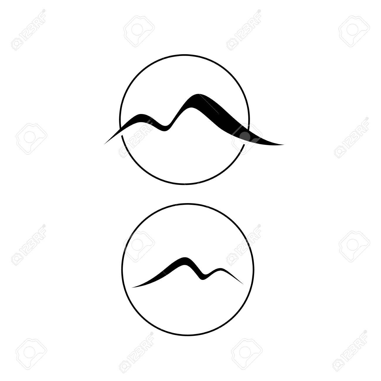 stylish Simple M letter Mountain logo vector design