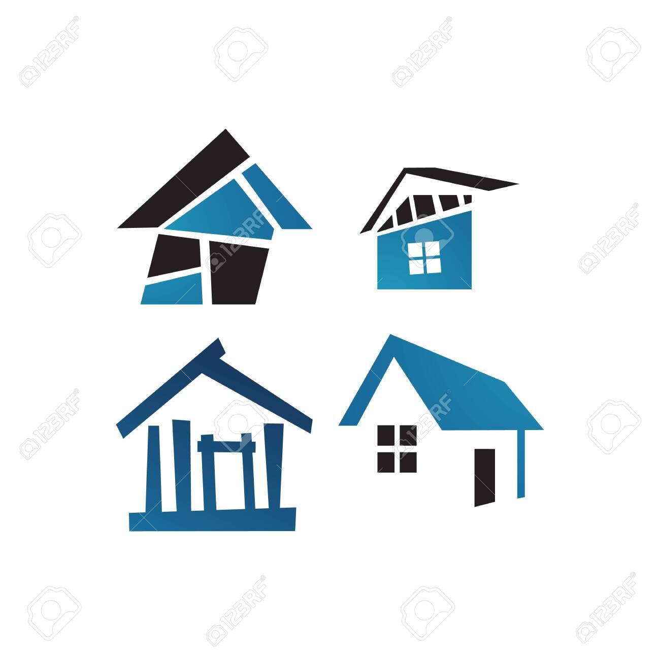Concept And Idea Of Apartment House Realty Logo Design Vector