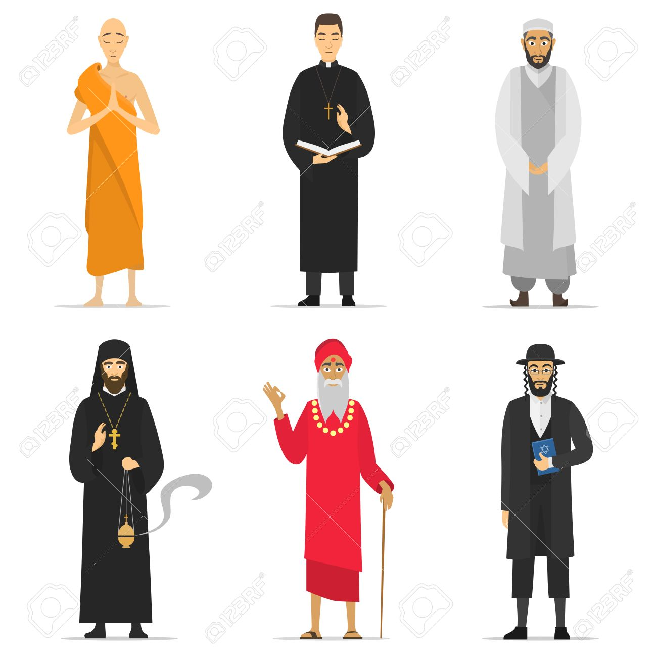 1618 buddhist monk stock vector illustration and royalty free isolated religion ministers monks and priest greeting buddhist catholic muslim kristyandbryce Image collections