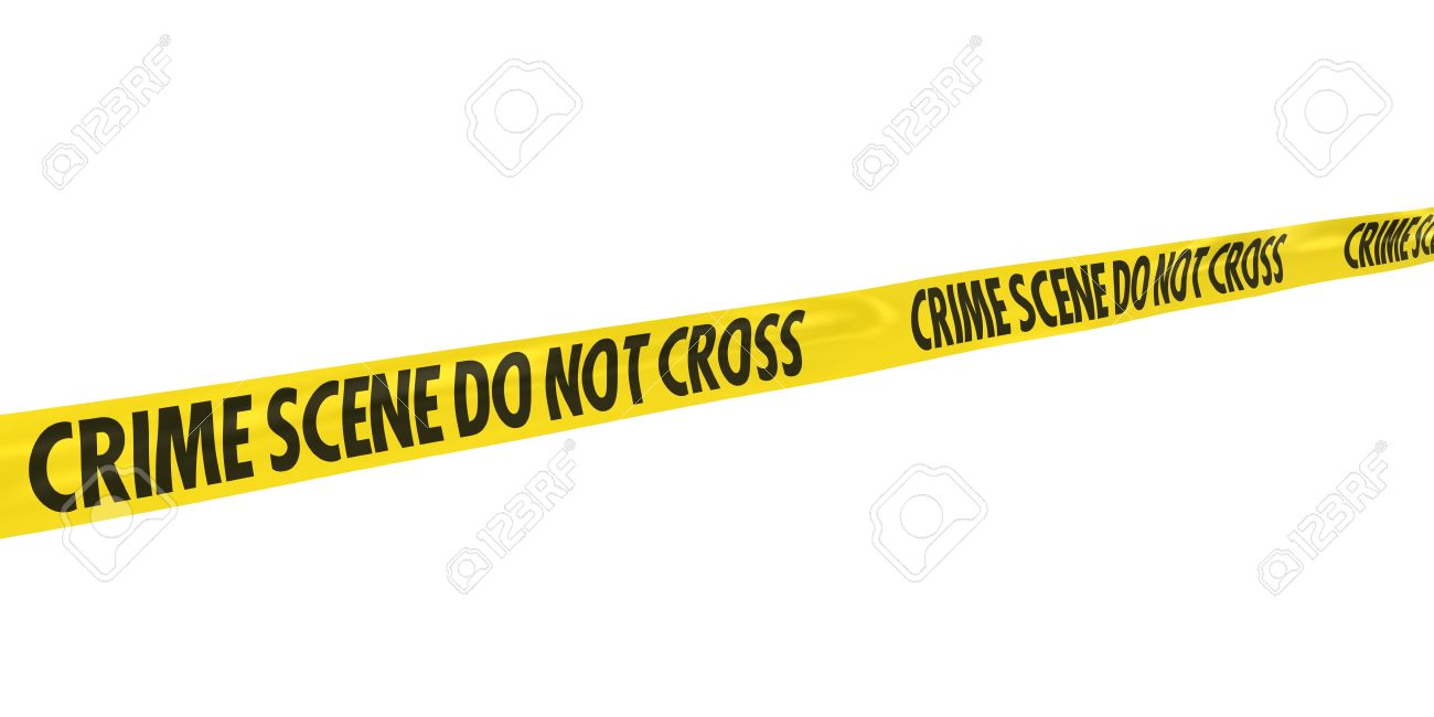 crime scene do not cross tape line at angle stock photo picture and