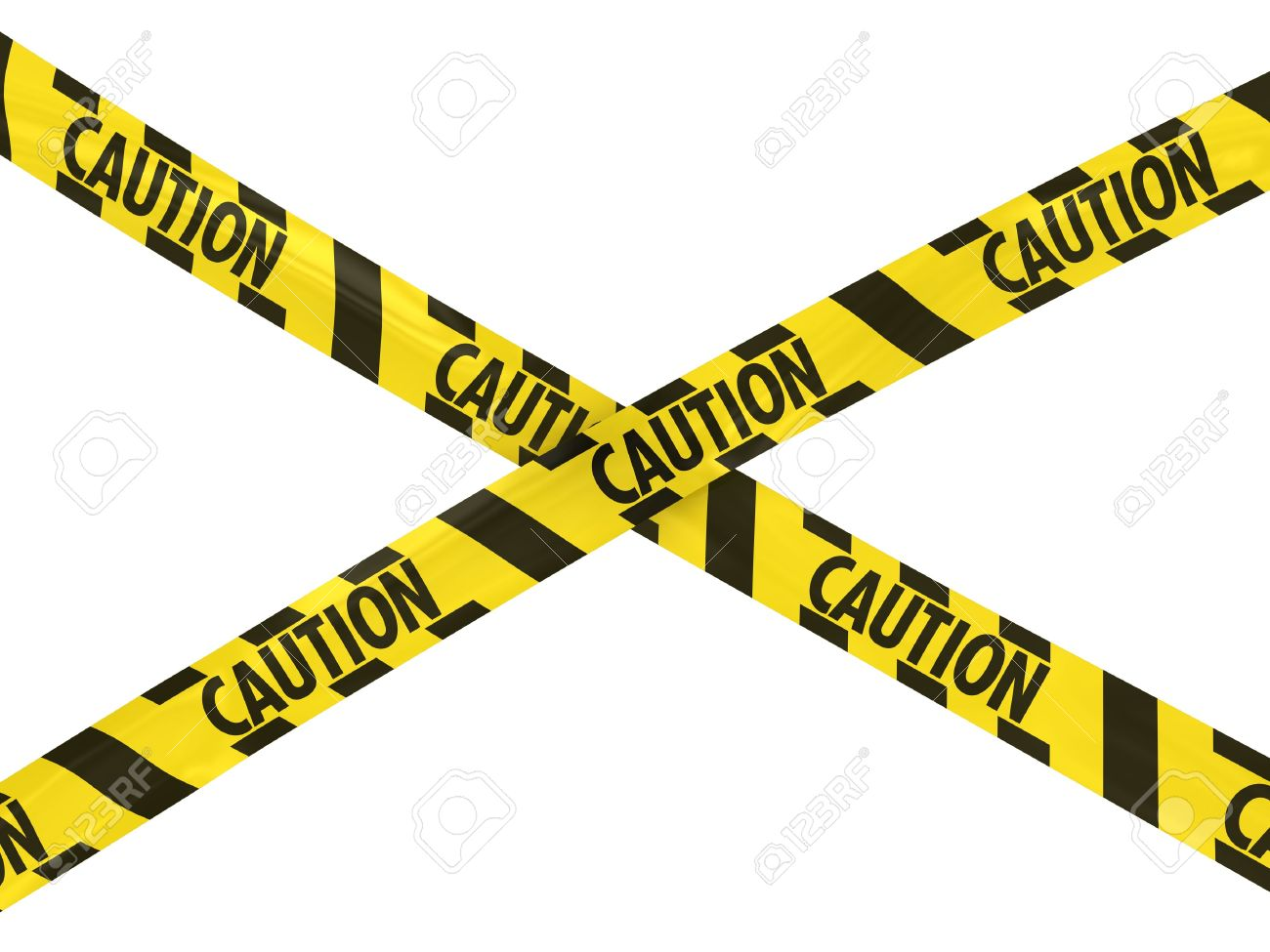 yellow and black striped caution tape cross stock photo picture and rh 123rf com