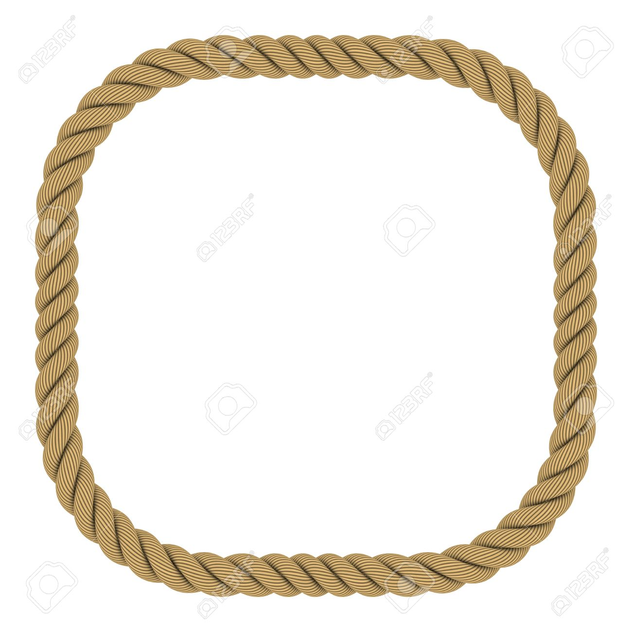 rounded square rope frame isolated on white background stock photo 51619361