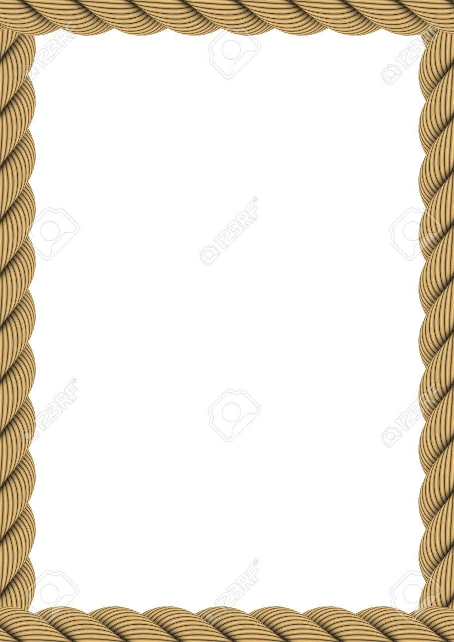 A4 Rechteck Seil Rahmen Isoliert Auf Weiß Lizenzfreie Fotos, Bilder ...