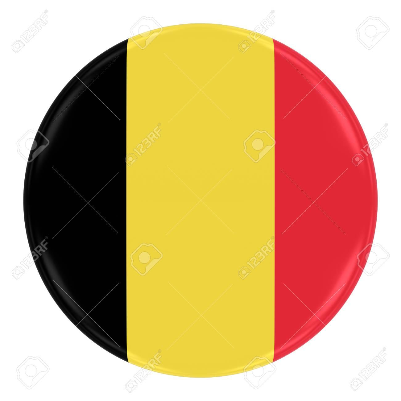 Button Badge Drapeau Belgique