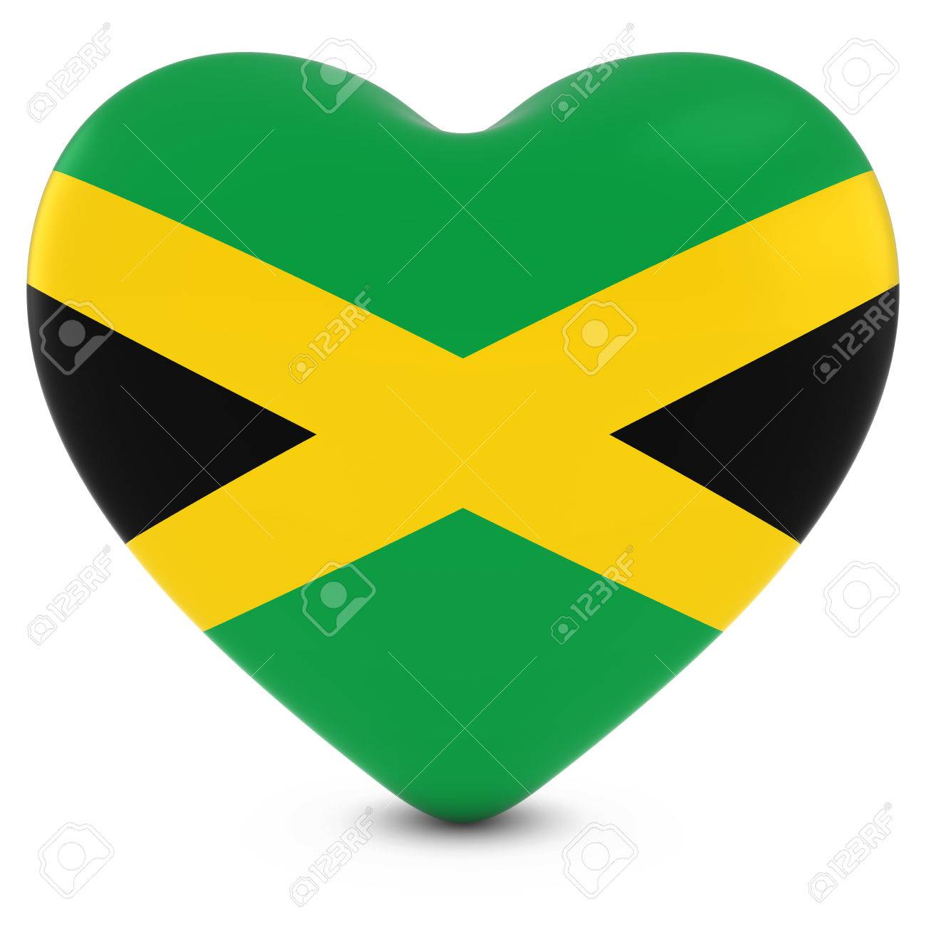Love jamaica concept image heart textured with jamaican flag stock photo 55630210
